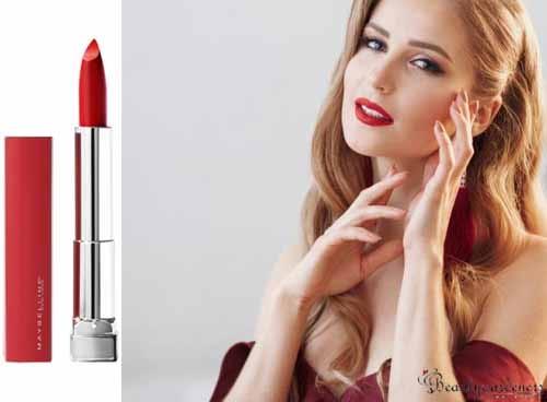 lip color for burgundy dress