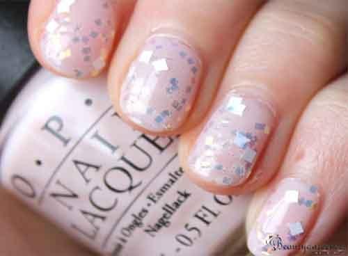 glitter nail polish art