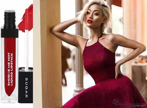 lipstick to go with burgundy dress