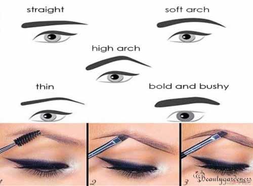 eyebrow shape for hooded eyelids