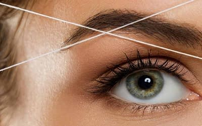 how to thread eyebrow