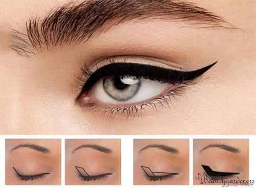 how to do winged eyeliner on hooded eyes