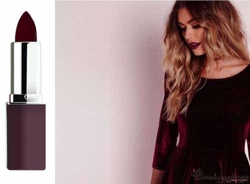 lipstick for burgundy dress